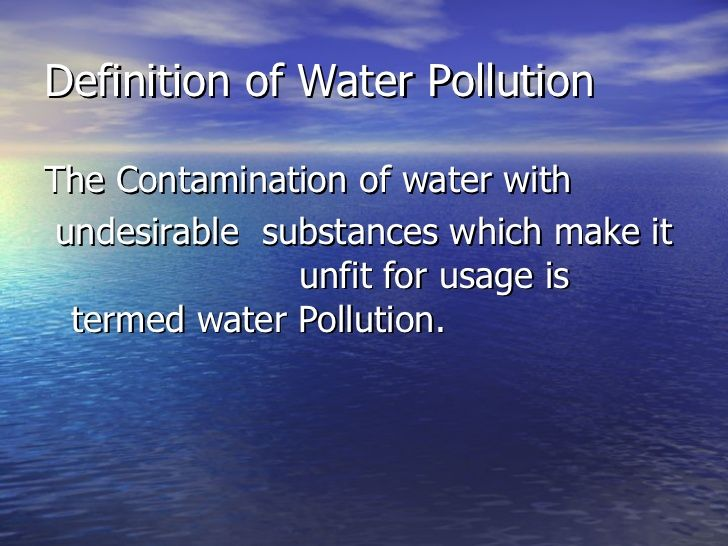 Causes Of Water Pollution About 40 Of Deaths Worldwide Are