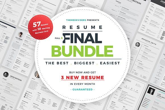 Resume/CV Full & Final Bundle by ThemeDevisers on @Graphicsauthor