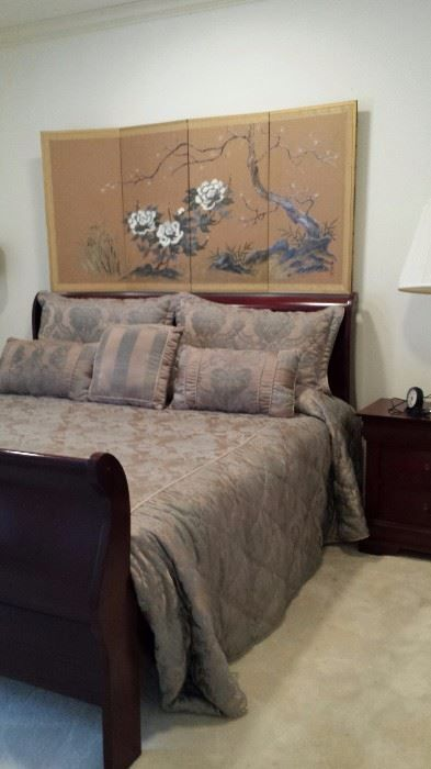 Queen sleigh bed; Asian wall screen  New Divide & Conquer sale starting this Thursday February 2-February 4, 2017 check out the details here:  http://divideandconquerofeasttexas.com/nextsales.php  #estatesales #consignments #consignment #tyler #tylertx #tylertexas #organizing #organizers #professionalorganizer #professionalorganizers #movingsale #movingsales #moving #sale #divideandconquer #divideandconquerofeasttexas #divideandconquereasttexas #marthadunlap #martha #dunlap