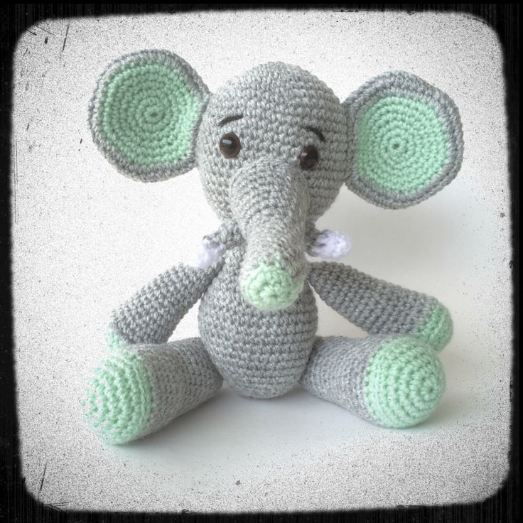 A personal favourite from my Etsy shop https://www.etsy.com/au/listing/269146550/big-ears-elephant-in-amigurumi-crochet