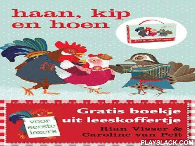 Haan Kip En Hoen, Prentenboek  Android App - playslack.com , Op een dag vinden Kip en Haan een vreemde vogel op het strand. Het is Hoen. Hij komt van ver en is van uitputting op het strand in elkaar gezakt. Kip ontfermt zich over Hoen, maar Haan vindt het een vreemde vogel…Hoen gaat in een hok naast Kip en Haan wonen. Als ze naar de kermis gaan, blijkt dat Hoen sommige dingen veel beter kan dan Haan, zoals boksen en schieten met een geweer. Kip en Hoen gaan samen in de spin en hebben veel…