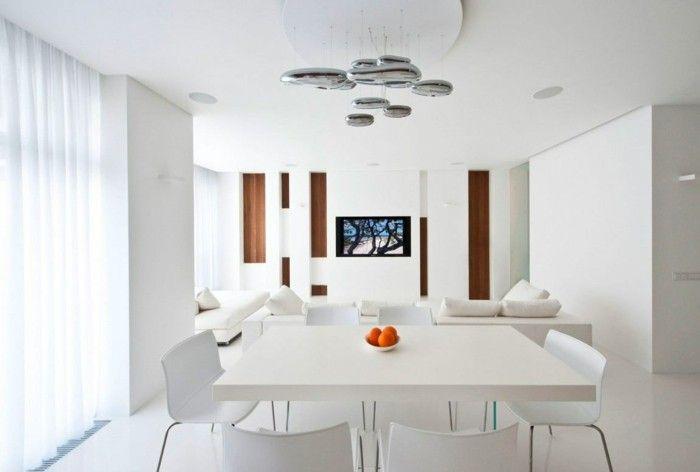 minimalistisch wohnen weies esszimmer moderne beleuchtung - Modern Minimalistisch Wohnen