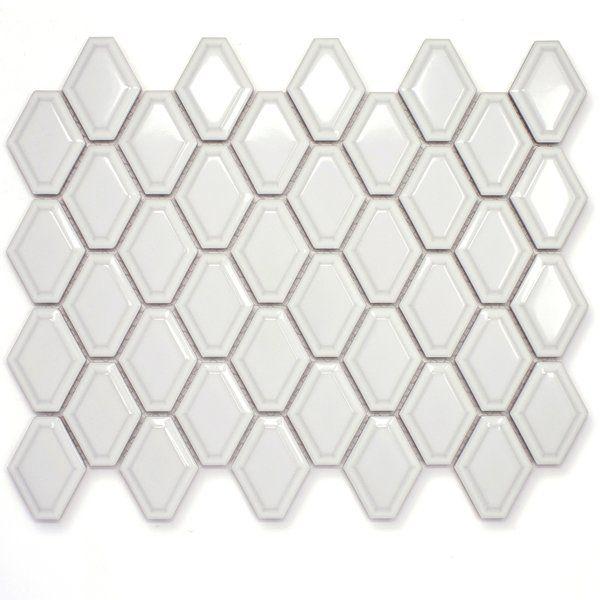 Diamond 3 X 3 Porcelain Mosaic Wall Floor Tile Porcelain Mosaic Tile Porcelain Mosaic Mosaic Tiles