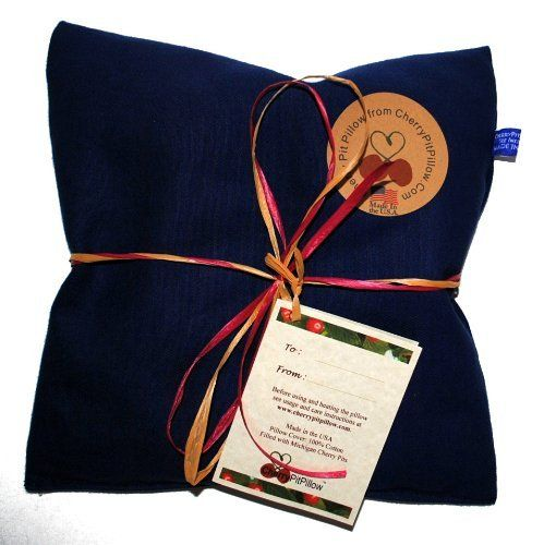 Blue Therapeutic Cherry Pit Pillow - Soothe Neck and Stomach Pain - Durable Denim - Soft to the Touch - Cherry Stone Heat Pack - Heat Pad - Unique Christmas or Birthday Present - Made in America CherryPitPillow http://www.amazon.com/dp/B00K1D1DHA/ref=cm_sw_r_pi_dp_pF4Uvb099T289