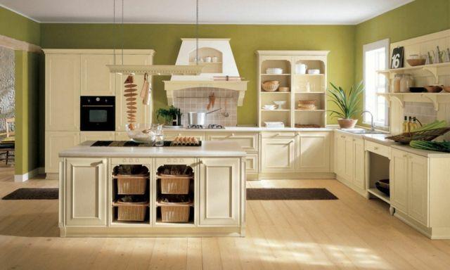 Idée couleur cuisine verte