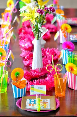 The Pugmires: Hadleigh's 11th Birthday Party! - bright colorful table