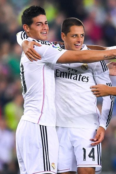 10.James 14.Chicharito