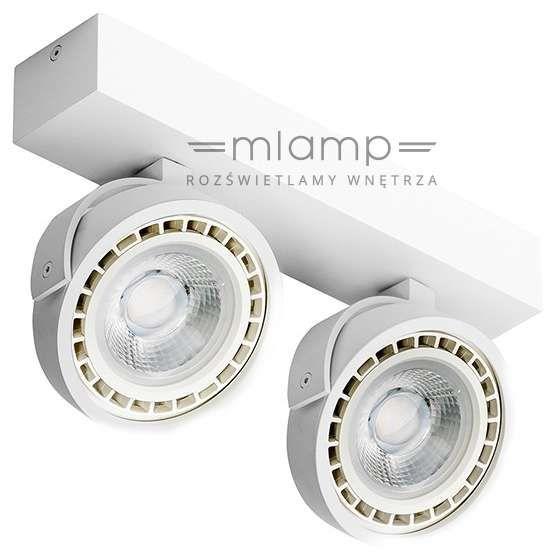 Spot LAMPA sufitowa JERRY 2 GM4205-230V DIM 15W BK Azzardo reflektorowa OPRAWA LED 30W metalowy PLAFON regulowany czarny