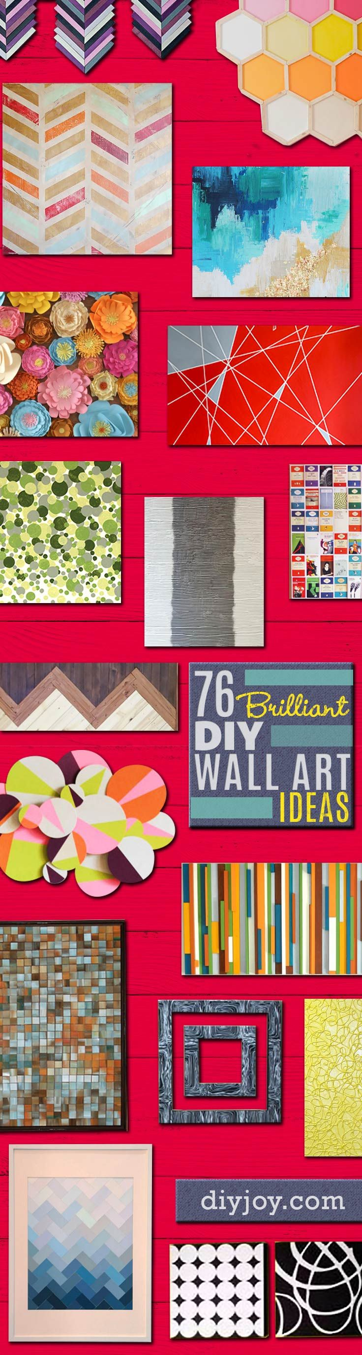 76 brilliant diy wall art ideas for your blank walls for Cuadros decoracion hogar