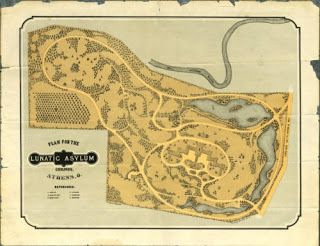 Original Plan of the grounds of the Athens Lunatic Asylum.