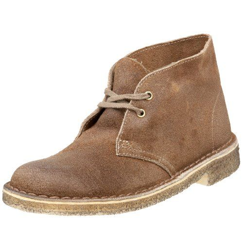 A rugged, nostalgic style plus incredible cushioned comfort equals an instant classic with Clarks Originals Women Desert Boot. Take a step into the history books by the crepe-soled inspired boot worn by British officers in World War II and crafted material from supple suede or leather upper! The Moccasin construction offers a flexible feel and shock absorbing foam footbed that reduces the impact o ...