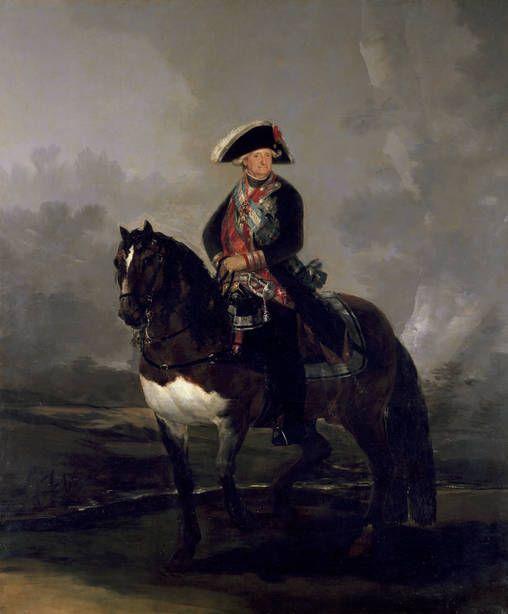 Goya en El Prado: Carlos IV a caballo. Cita expresamente al modelo Velázquezño.