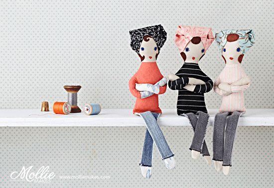Mollie Makes Betty Dolls image