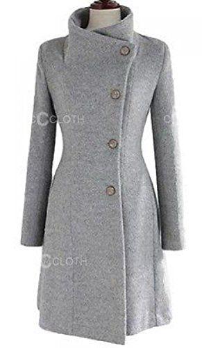 Version Women's Cashmere Woolen Coat Jacket Warm Winter Long Trench Slim at Amazon Women's Coats Shop
