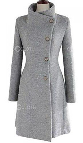 Version Women's Cashmere Woolen Coat Jacket Warm Winter Long Trench Slim at Amazon Women's Coats Shop