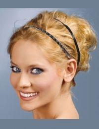 i do like the double head band idea...not so much this messy hair do, though.: Up Hairstyles, Headbands Hairstyles, Double Headbands, Homemade Headbands, Hair Style, Hairstyles Ideas, Easy Updo Hairstyles, Hair Color, Bridesmaid Hairstyles