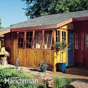 how to build a shed against your house
