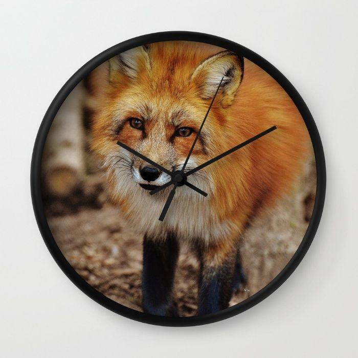 Fox Wall Clock by Mixed Imagery   Society6