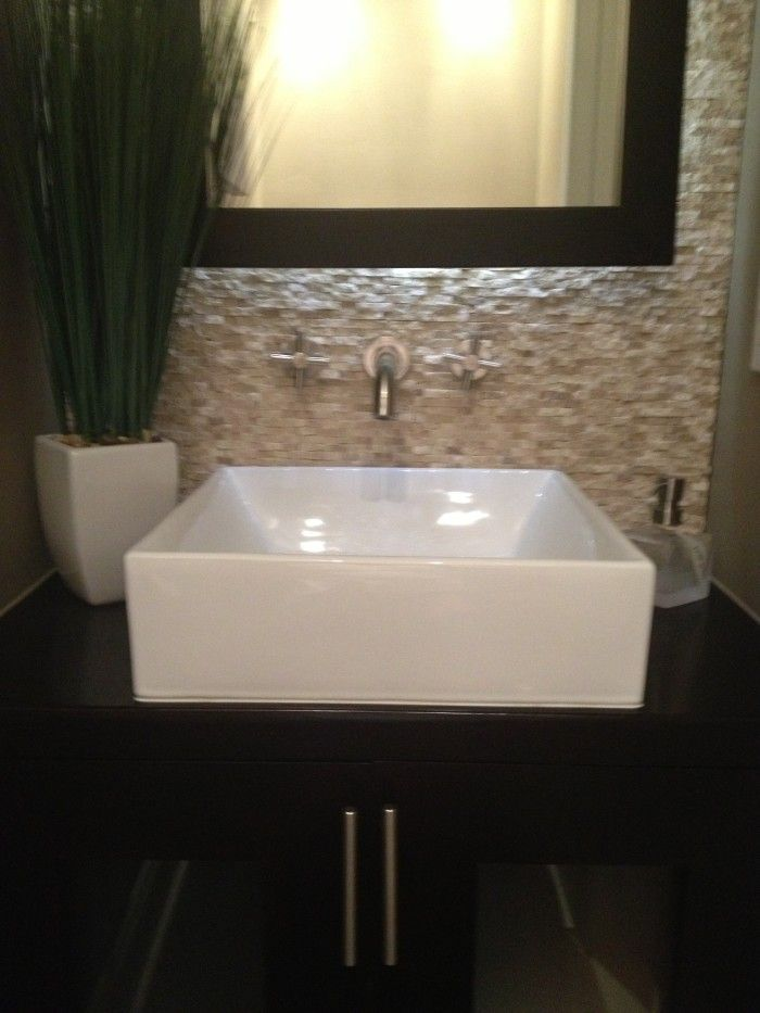 Floating Sink : Floating vanity with vessel sink Welcome Home Pinterest