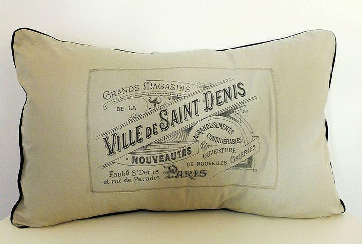 Fodera per cuscino con stampa francese di *Purr*handmade su DaWanda.com