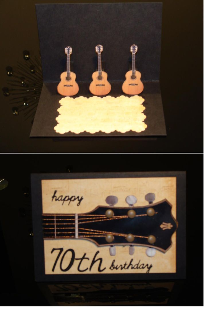 70th Birthday Music card