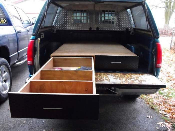 17 best ideas about truck bed drawers on pinterest truck bed storage truck bed and truck bed - Homemade truck bed drawers ...