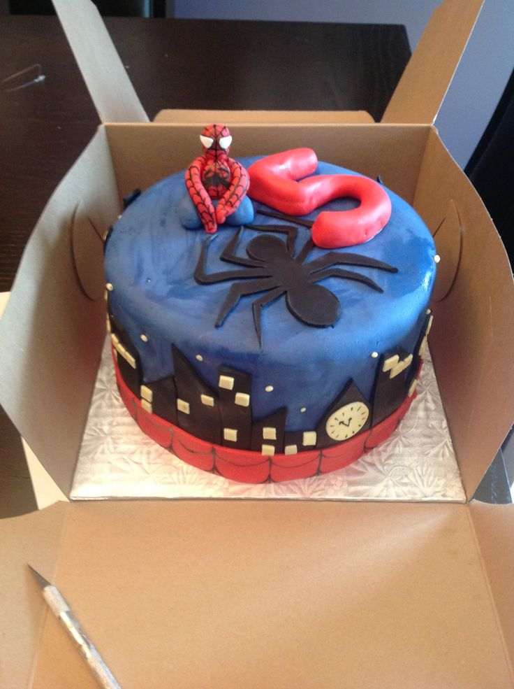 Spiderman cake - allergy free