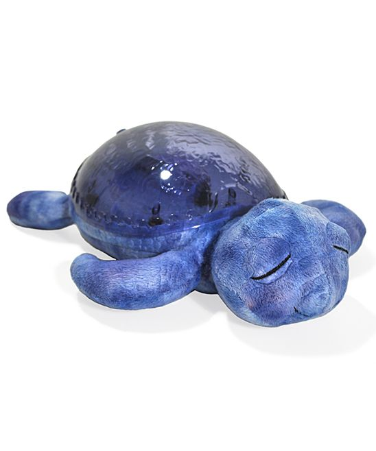 This turtle's shell glows aquamarine and projects an underwater light effect with a gentle wavy motion onto the ceiling
