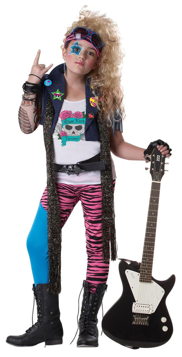 Look like totally gnarly in the 80's Glam Punk Rocker Costume.
