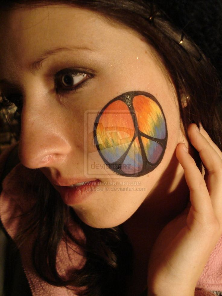 Tie-dye Peace Sign by CelticBelle   Face Painting ...
