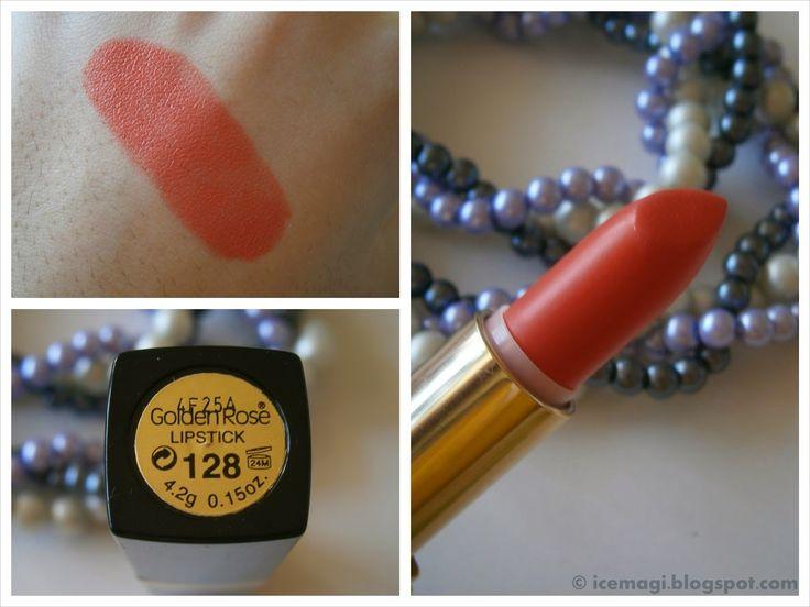 Golden Rose lipstick 128 swatch
