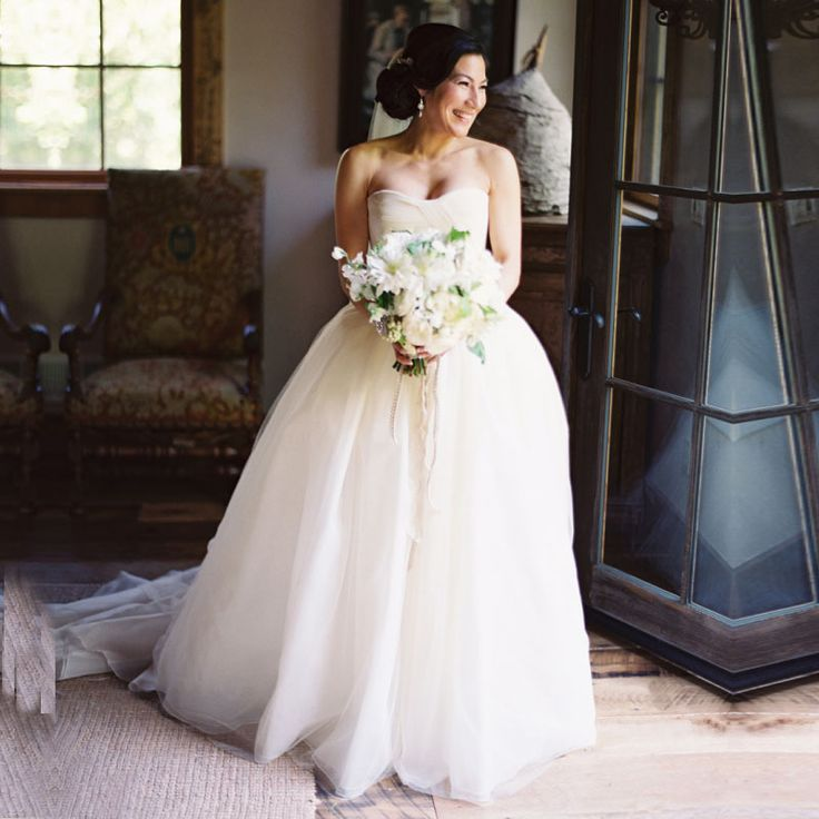 >> Click to Buy << Champagne Color Wedding Dresses vestidos de noiva 2017 Floor Length Sweetheart Neck Simple Tulle vestido noiva princesa #Affiliate