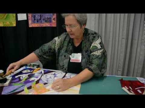 Ann Holmes - No Sewing Until You Quilt It - YouTube clever way to do stained glass applique quilt pix with a glue stick, then sew/quilt all at once.  wish i'd thot of this one.