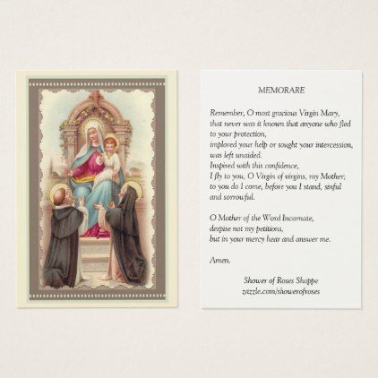 #Our Lady of the Rosary Prayer Memorare Holy Card - #office #gifts #giftideas #business