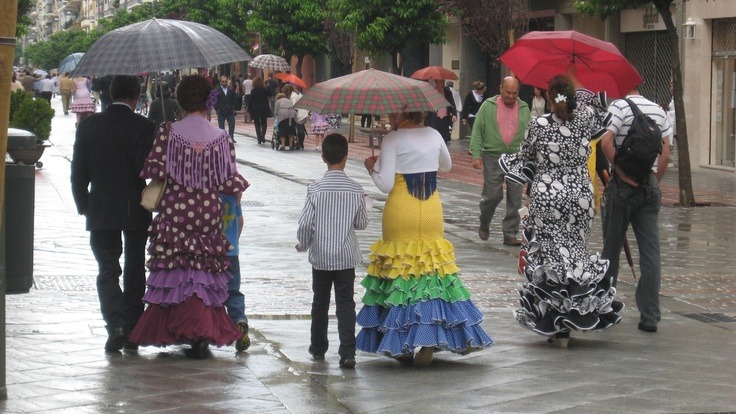 Seville during the feria