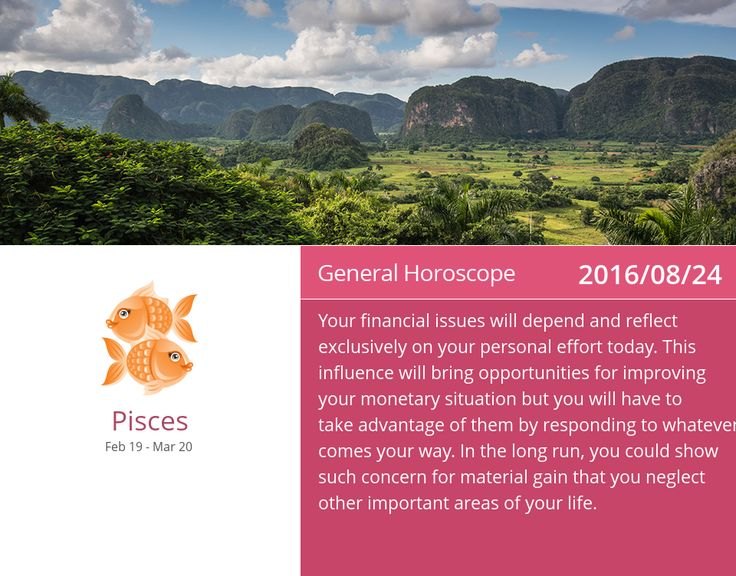 Pisces horoscope for 2016/08/24. PIN/LIKE if accurate. #pisces, #horoscope, #horoscopes, #astrology