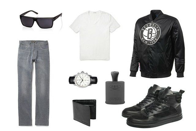 Monochrome outfit for men