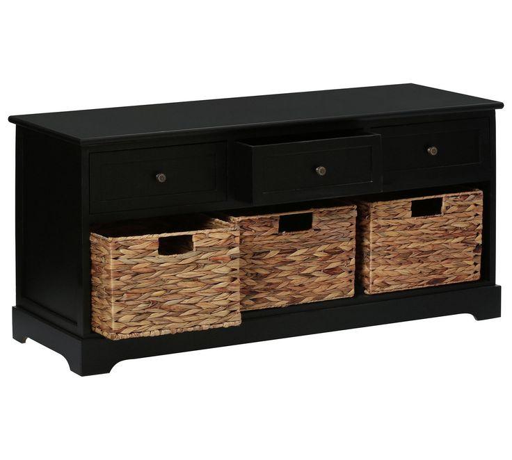 Buy Premier Housewares Vermont 3 Drawer 3 Basket Unit - Black at Argos.co.uk, visit Argos.co.uk to shop online for Storage units, Storage, Home and garden
