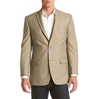 Michael Kors® Men's Big & Tall Two-Button Windowpane Sport Coat