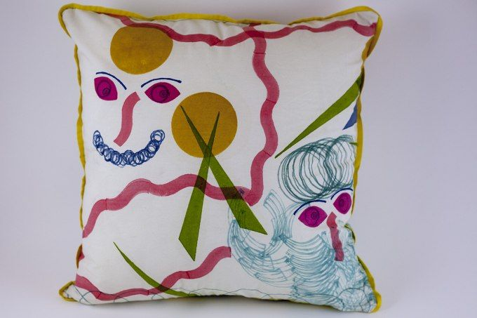 Woodblock Kandinsky 2 by Jain&Kriz. 100% cotton.