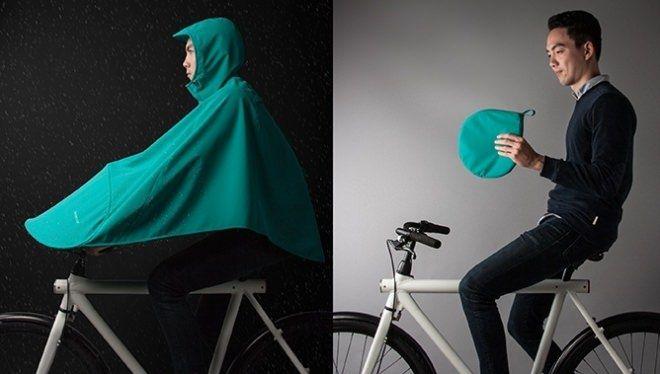 """""""ポンッ!""""と開き10秒で使える自転車用のポンチョ「BONCHO」―ポップアップテントの発想を導入 - えん乗り"""