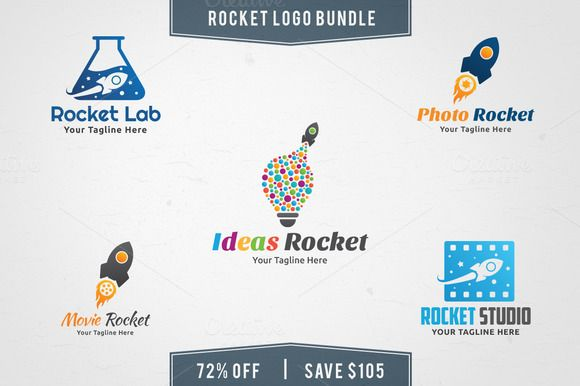 5 in 1 Rocket Logo Bundle by Martin-Jamez on Creative Market