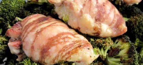 Een lekkere Paleo avondmaaltijd voor vier personen met kip, bacon en broccoli. Voor meer paleo recepten, bekijk onze website