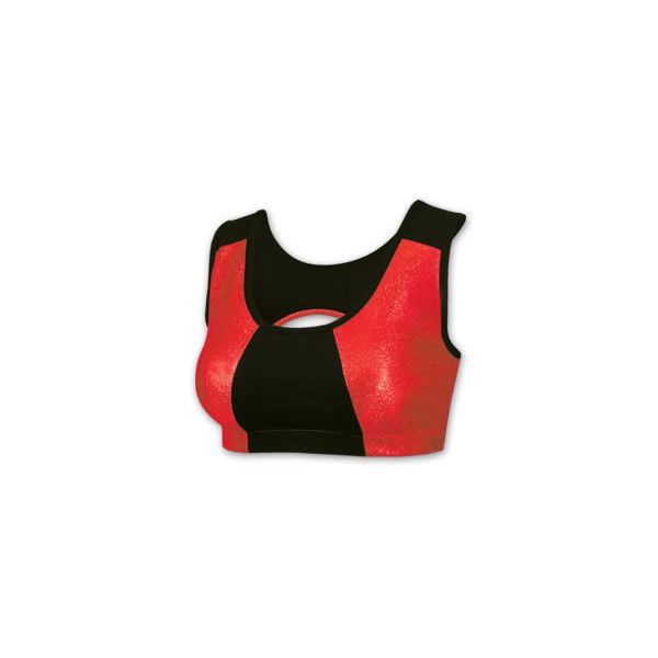 Metallic Performance Sports Bra - BR322 ❤ liked on Polyvore featuring activewear, sports bras, green sports bra and metallic sports bra