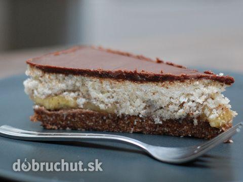 Fotorecept: Nepečená banánovo-kokosová torta
