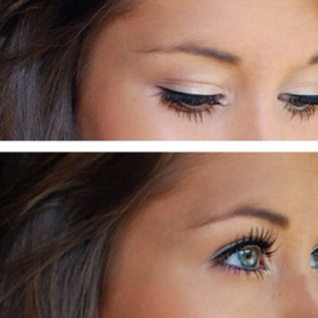 white eyeshadow.. I love it. So simple and pretty<3