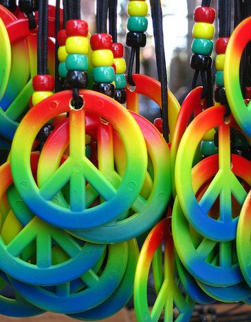 .: Color Things, Bright Color, Peace Necklaces, Peace Signs, Color Peace, Love Signs, Color Rainbows, Peace And Love, Peace Baby