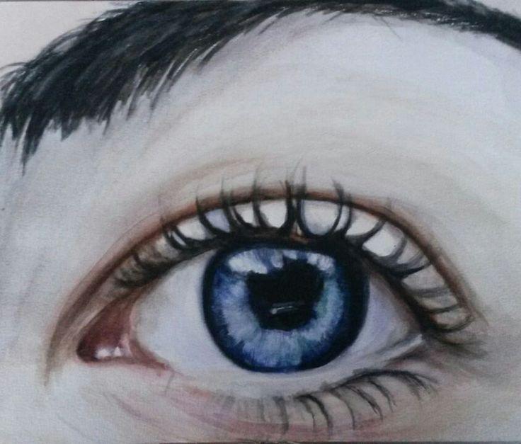 Eye, aquarel.
