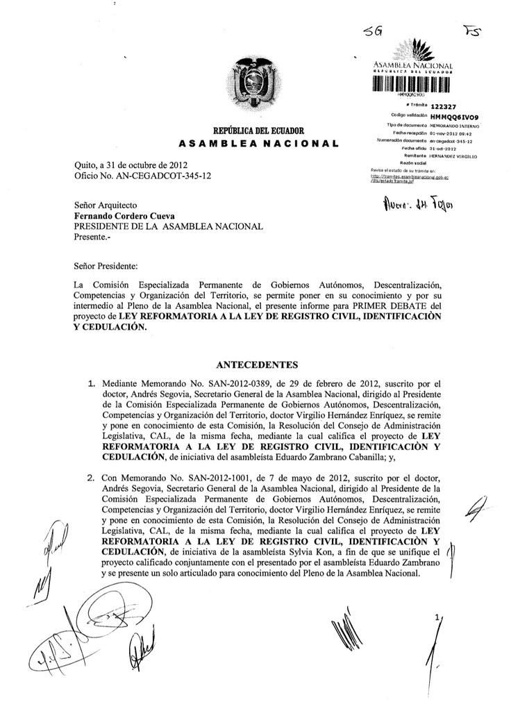 ley-reformatoria-a-la-ley-de-registro-civil by Observatorio Catolico via Slideshare