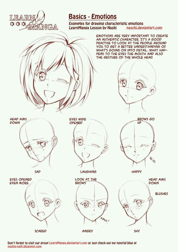 How To Draw Manga Face Girl Cute Kawaii